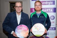 Cllr Chris McManus with Sean O'Connor from Conradh na Gaeilge