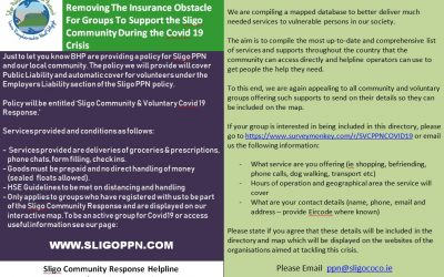 Sligo PPN Insurance cover for Registered Covid 19 Support Groups