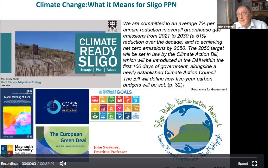 Environmental Series Session 1 : Climate Change with Professor John Sweeney